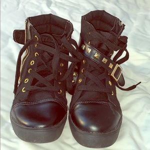 Shoes - Black high top sneakers